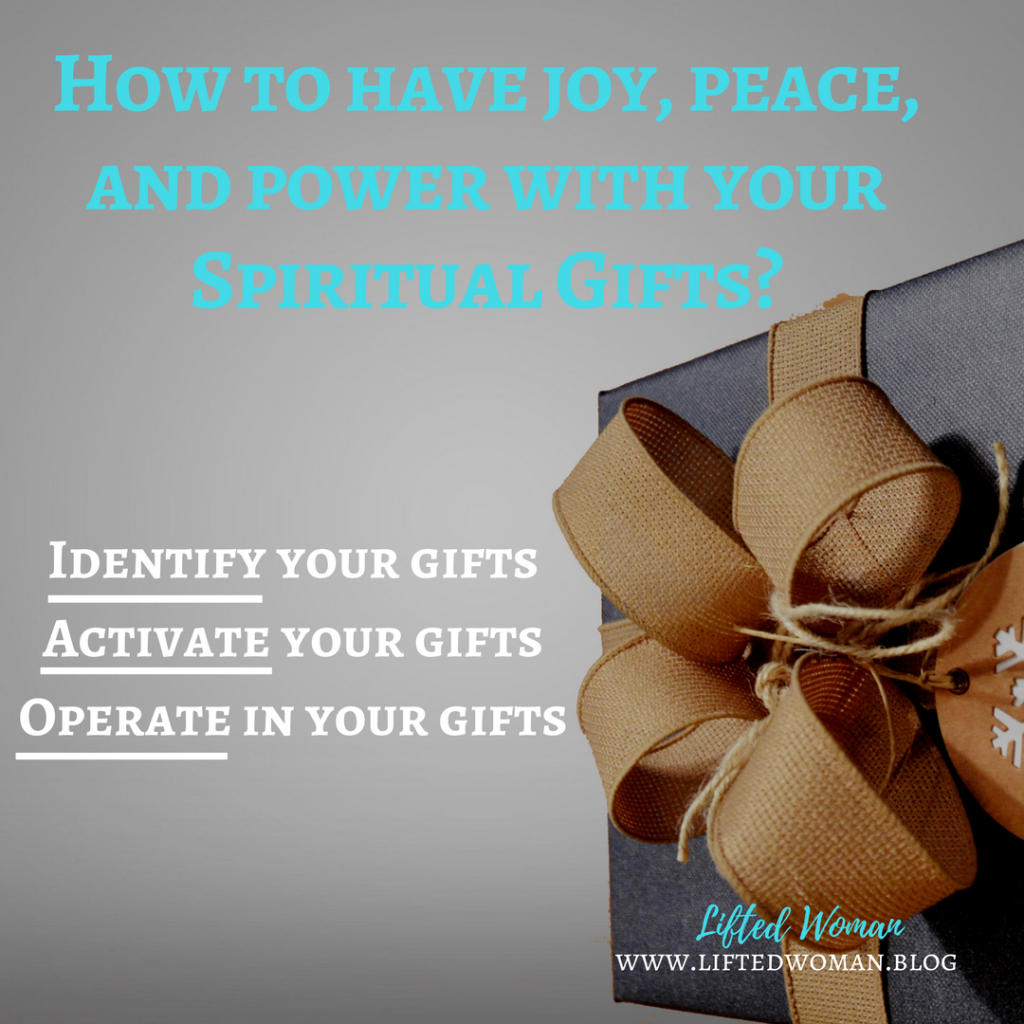 Joy peace and power with your gifts