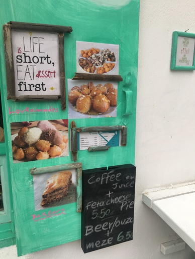 """The sign read """"Life is short, Eat first"""" lol"""