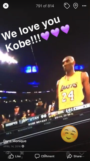 2016, Pics from Kobe's last game...